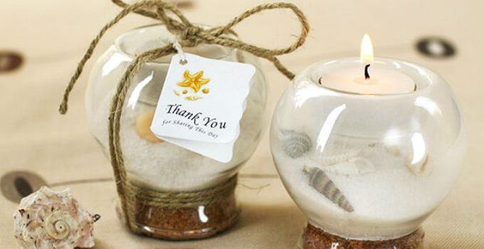 Sand shell tealight holder