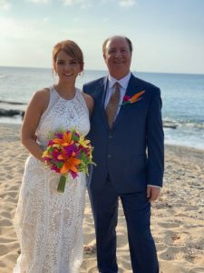 Claudette and Larry married on St. Croix beach