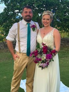 Sarah and Joseph married 12-7-19 at the Sugarmill at The Buccaneer Resort