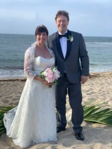 Bride and Groom on St. Croix Beach